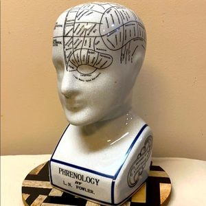 Vtg Phrenology Head
